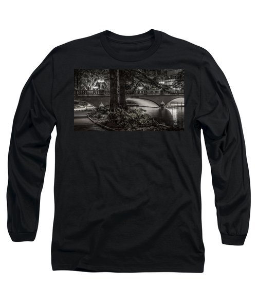 Long Sleeve T-Shirt featuring the photograph Navarro Street Bridge At Night by Steven Sparks