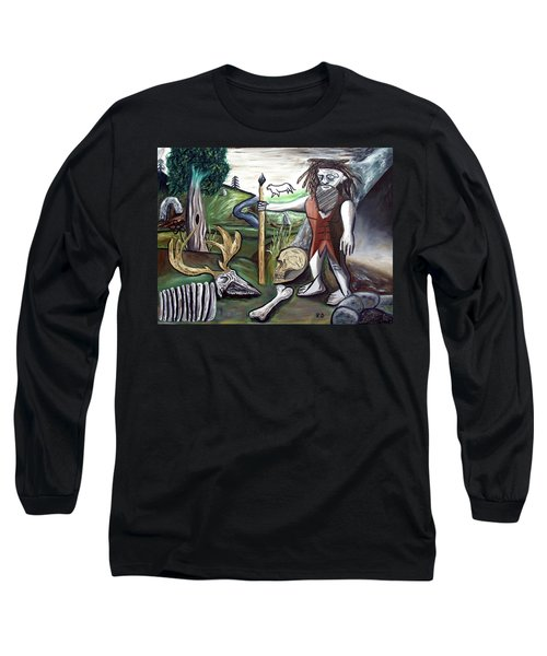 Long Sleeve T-Shirt featuring the painting Neander Valley by Ryan Demaree