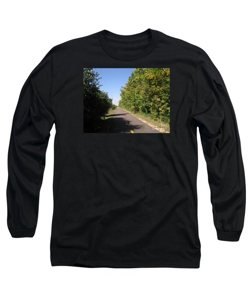 Neighborhood Bicycle And Walking Trail Long Sleeve T-Shirt