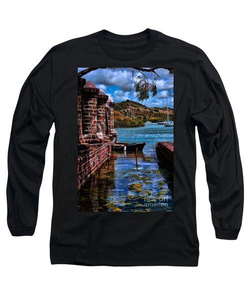 Nelson's Dockyard Antigua Long Sleeve T-Shirt by Tom Prendergast