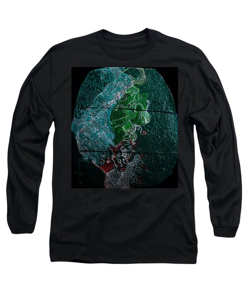 Long Sleeve T-Shirt featuring the painting Nemesis by Gloria Ssali