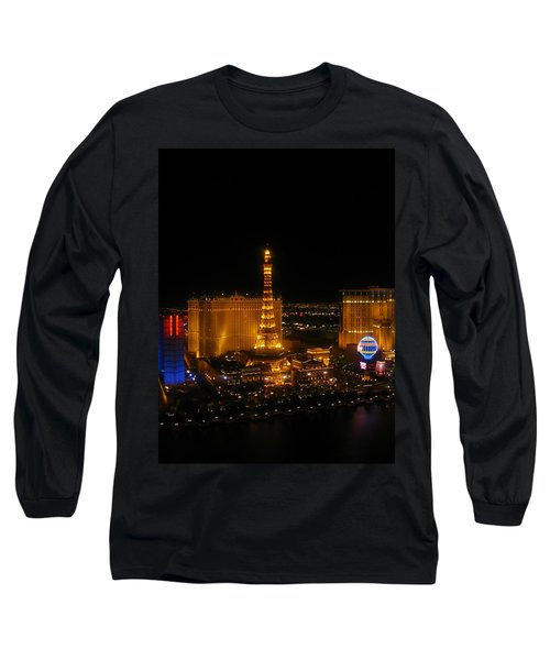 Long Sleeve T-Shirt featuring the photograph Neon Illusion by Angela J Wright