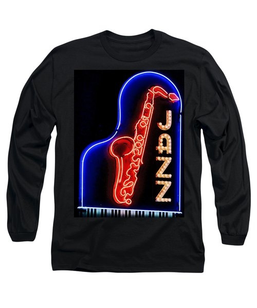 Neon Jazz Long Sleeve T-Shirt by Nadalyn Larsen