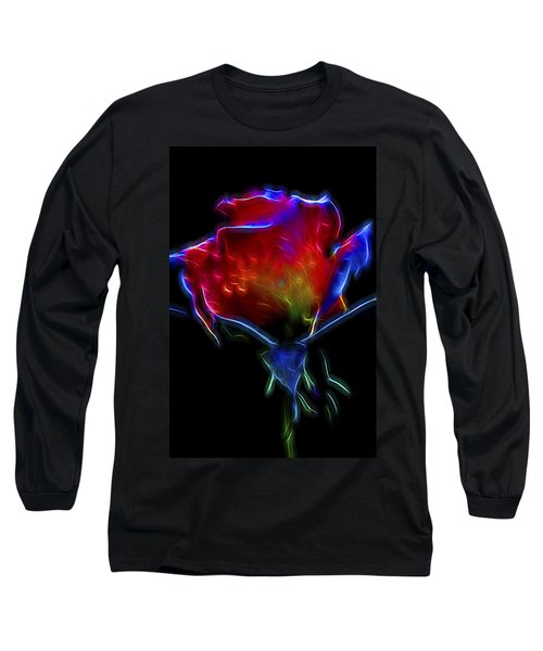 Neon Rose Long Sleeve T-Shirt