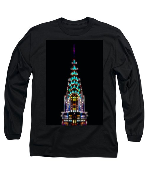Neon Spires Long Sleeve T-Shirt by Az Jackson