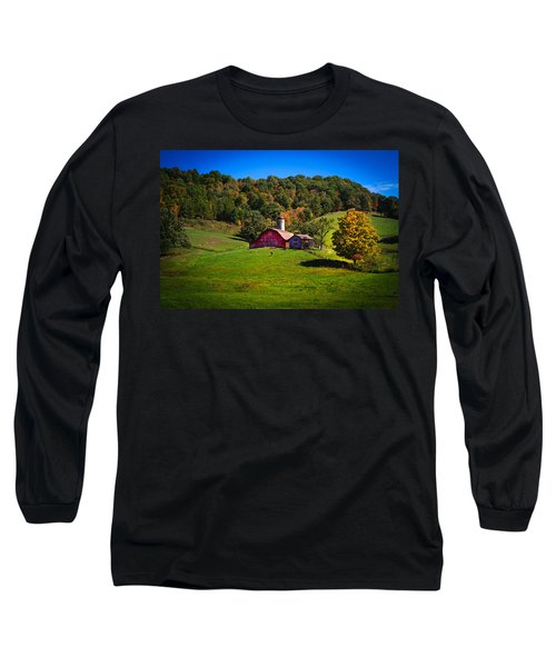 nestled in the hills of West Virginia Long Sleeve T-Shirt by Shane Holsclaw
