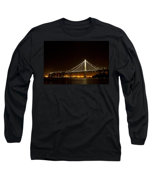 New Bay Bridge Long Sleeve T-Shirt by Bill Gallagher