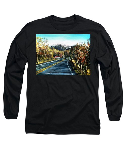 Long Sleeve T-Shirt featuring the painting New England Drive by Shana Rowe Jackson
