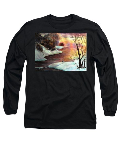 Long Sleeve T-Shirt featuring the painting New Every Morning  by Hazel Holland