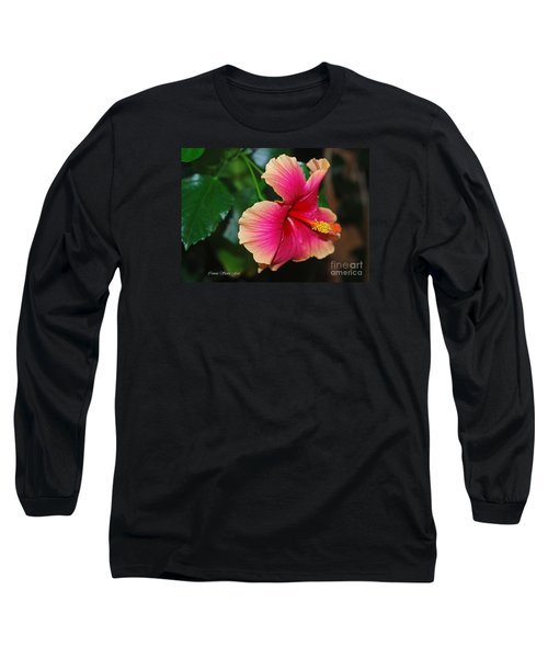 New Every Morning - Hibiscus Long Sleeve T-Shirt by Connie Fox