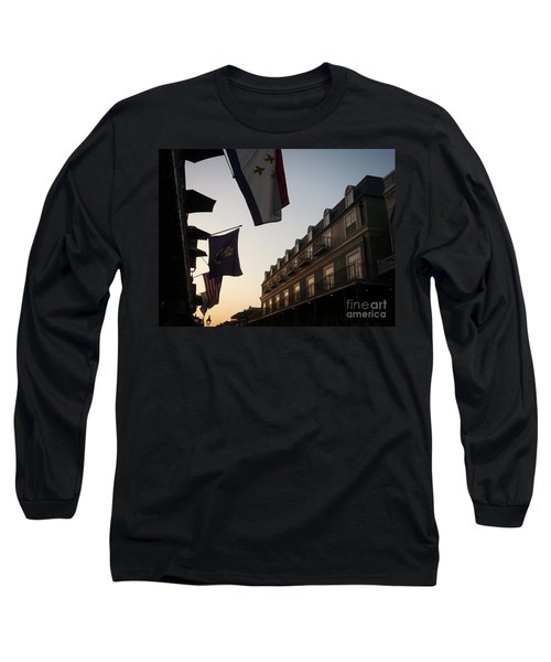 Evening In New Orleans Long Sleeve T-Shirt by Valerie Reeves