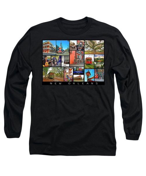 New Orleans Long Sleeve T-Shirt by Steve Harrington