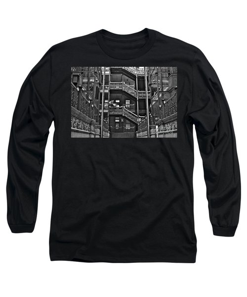 New Photographic Art Print For Sale Bradbury Building Downtown La Long Sleeve T-Shirt