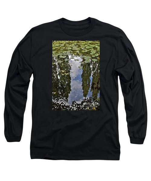 Reflections Amongst The Lily Pads Long Sleeve T-Shirt