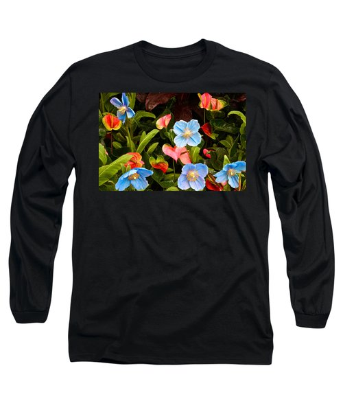 New World And Old World Exotic Flowers Long Sleeve T-Shirt