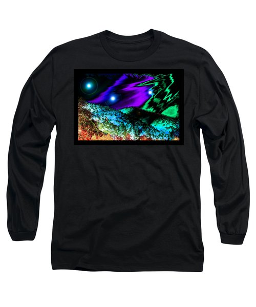 Long Sleeve T-Shirt featuring the photograph New World Times by Susanne Still