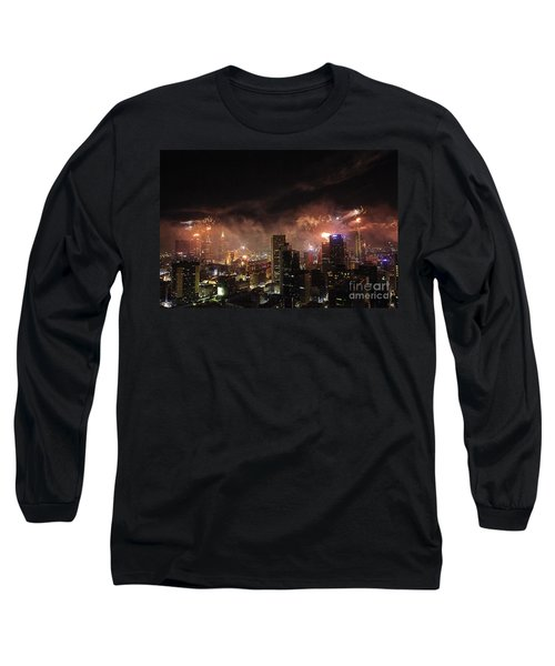 New Year Fireworks Long Sleeve T-Shirt