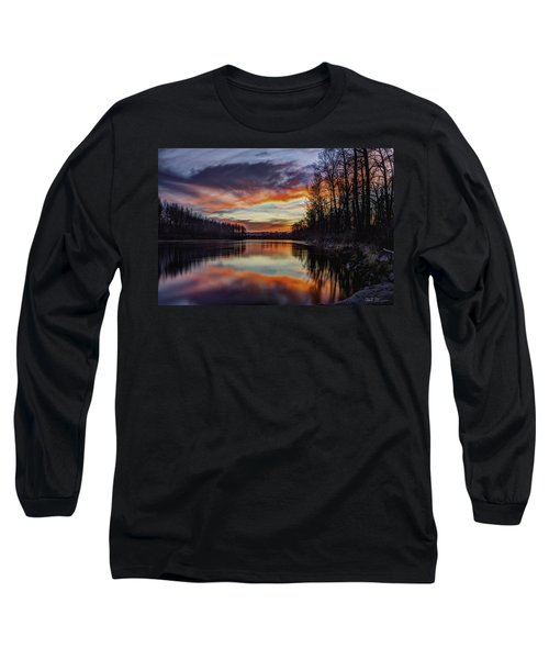 New Years Eve Sunset Long Sleeve T-Shirt by Charlie Duncan