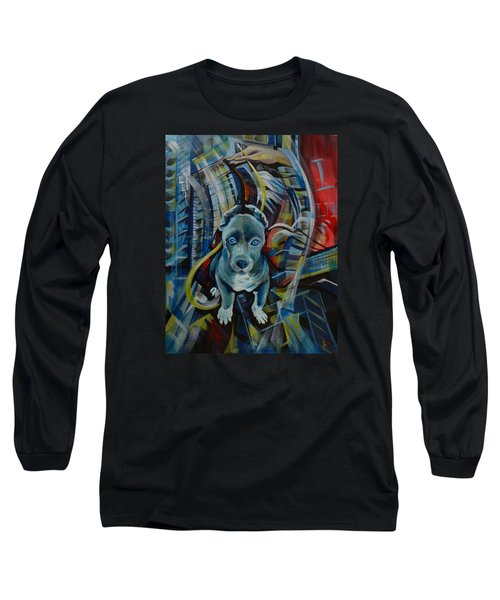 Long Sleeve T-Shirt featuring the painting New York by Anna  Duyunova