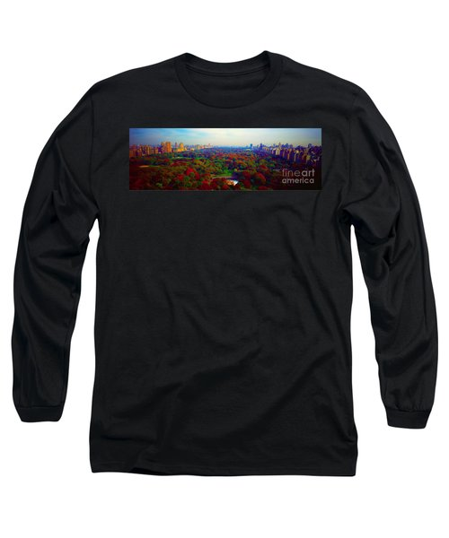 Long Sleeve T-Shirt featuring the photograph New York City Central Park South by Tom Jelen