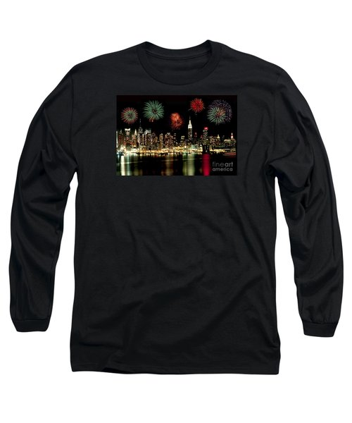 New York City Fourth Of July Long Sleeve T-Shirt by Anthony Sacco