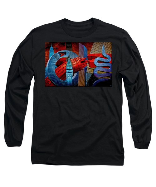 New York City Park Avenue Sculptures Reimagined Long Sleeve T-Shirt