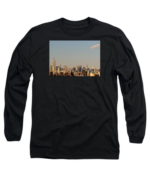 New York City Skyline Long Sleeve T-Shirt by Kerri Farley