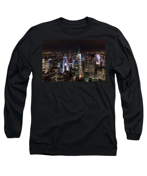 New York Times Square Long Sleeve T-Shirt by Matt Malloy