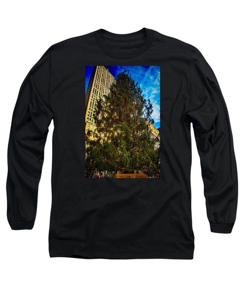 Long Sleeve T-Shirt featuring the photograph New York's Holiday Tree by Chris Lord