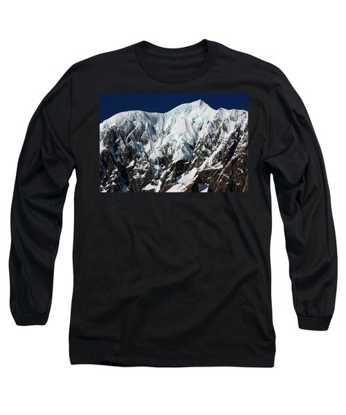 New Zealand Mountains Long Sleeve T-Shirt by Amanda Stadther