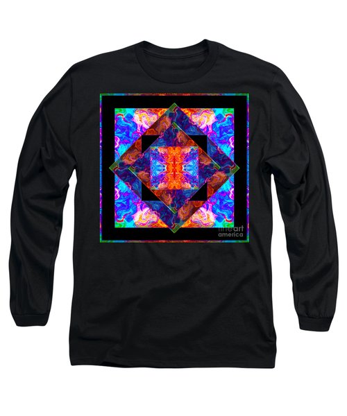 Long Sleeve T-Shirt featuring the painting Newly Formed Bliss Mandala Artwork by Omaste Witkowski