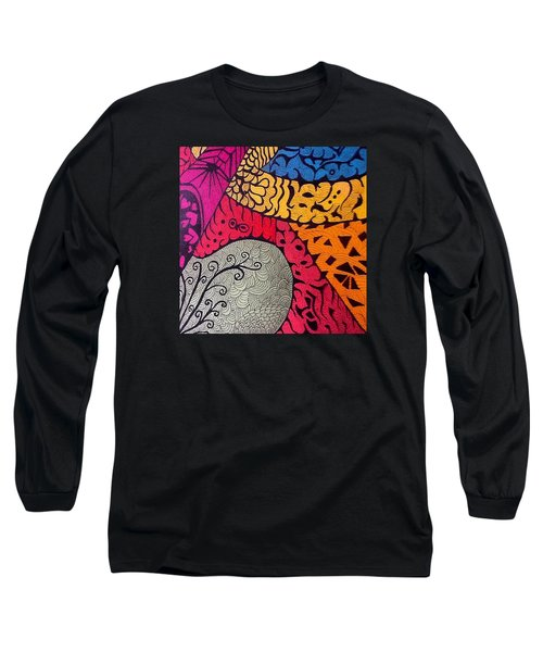 Nice Colors In A Doodling Designs I Long Sleeve T-Shirt