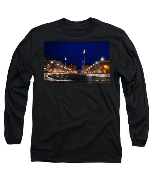 Nice France - Place Massena Blue Hour  Long Sleeve T-Shirt
