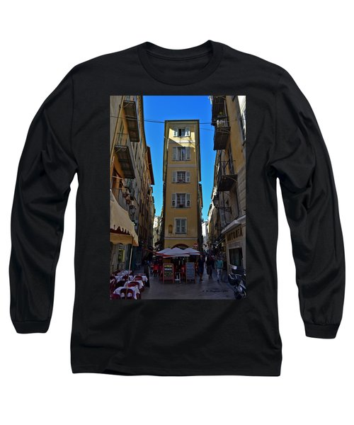 Long Sleeve T-Shirt featuring the photograph Nice - La Maison by Allen Sheffield
