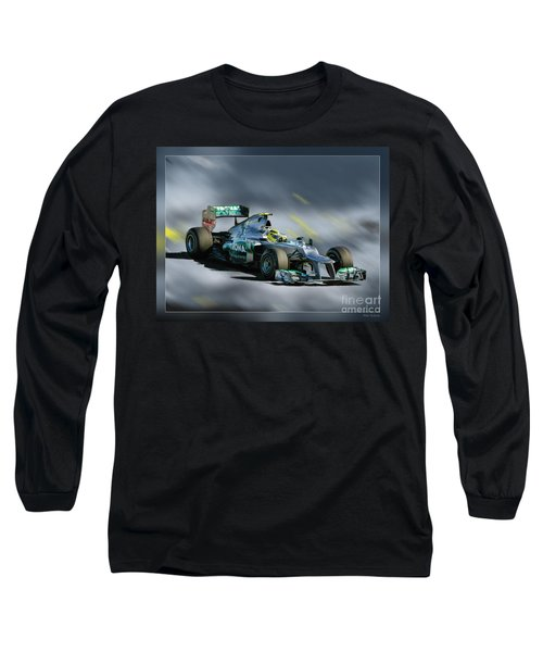 Nico Rosberg Mercedes Benz Long Sleeve T-Shirt