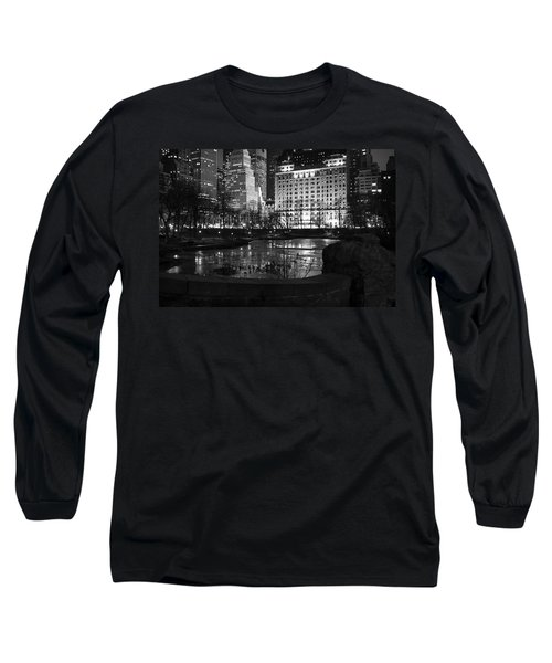Night Central Park Lake H Long Sleeve T-Shirt