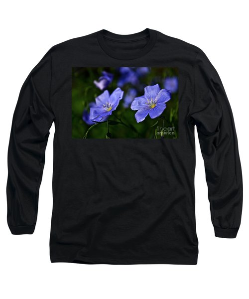 Long Sleeve T-Shirt featuring the photograph Night Garden by Linda Bianic