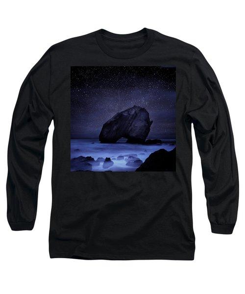 Night Guardian Long Sleeve T-Shirt by Jorge Maia