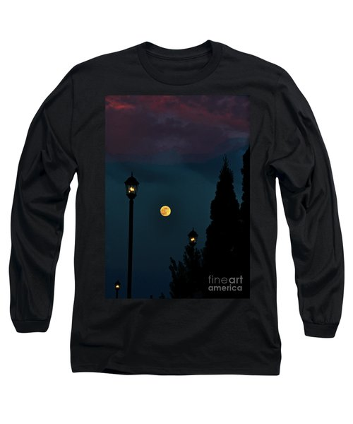 Night Lights Long Sleeve T-Shirt by Lydia Holly