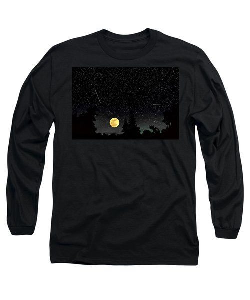 Night Moves Long Sleeve T-Shirt by Steve Harrington