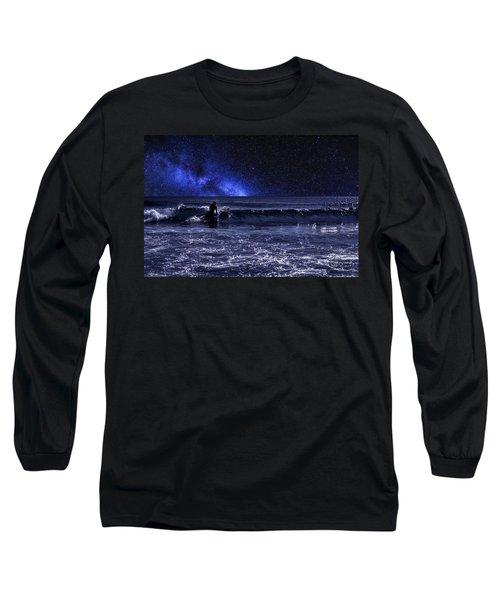 Night Surfer Long Sleeve T-Shirt