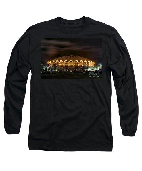 night WVU basketball Coliseum arena in Long Sleeve T-Shirt