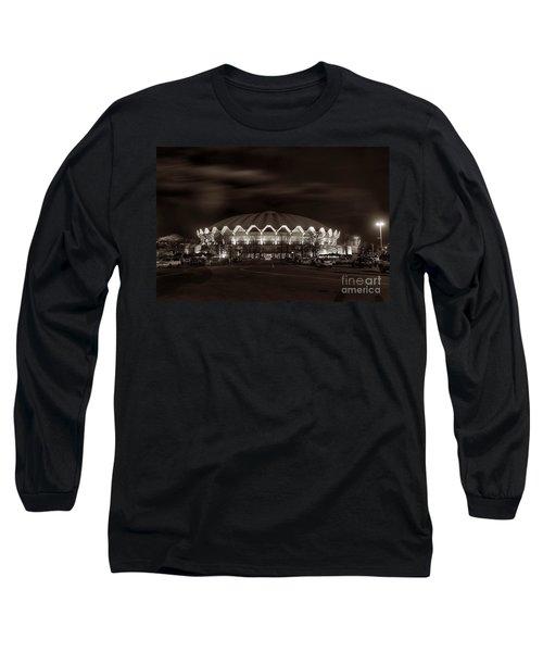 night WVU Coliseum basketball arena Long Sleeve T-Shirt