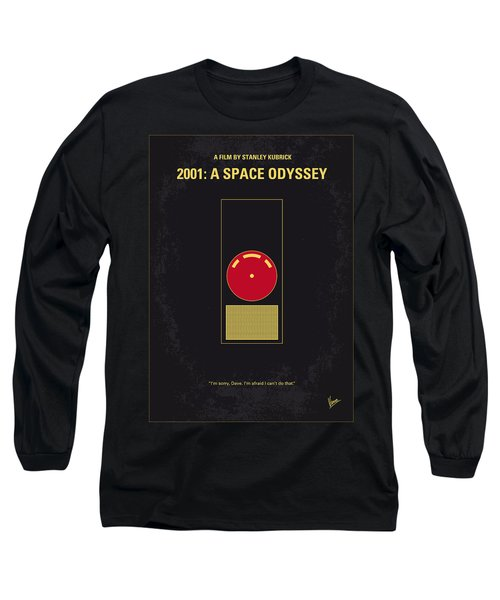 No003 My 2001 A Space Odyssey 2000 Minimal Movie Poster Long Sleeve T-Shirt