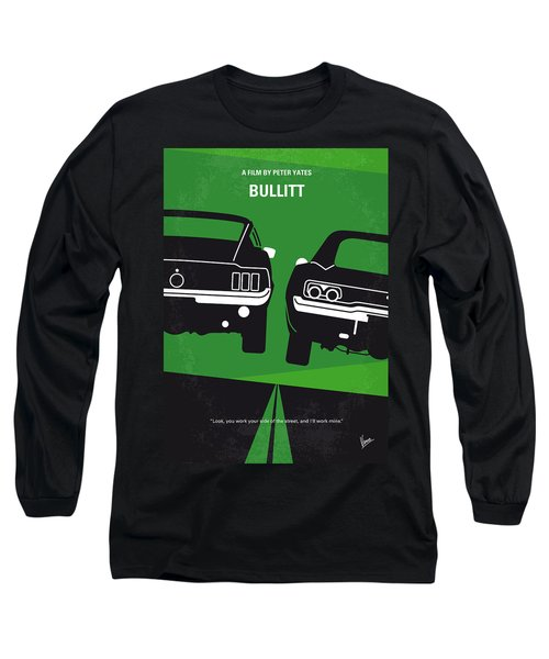 No214 My Bullitt Minimal Movie Poster Long Sleeve T-Shirt