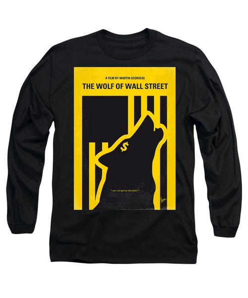 No338 My Wolf Of Wallstreet Minimal Movie Poster Long Sleeve T-Shirt