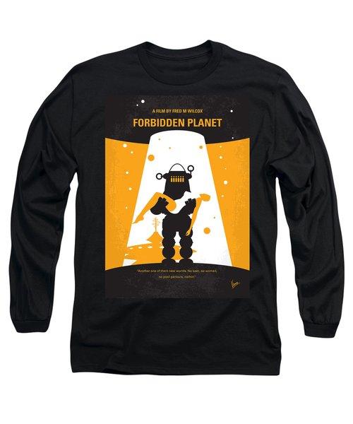 No415 My Forbidden Planet Minimal Movie Poster Long Sleeve T-Shirt