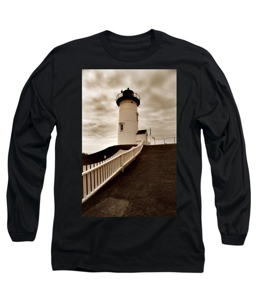 Nobska Lighthouse Long Sleeve T-Shirt by Skip Willits