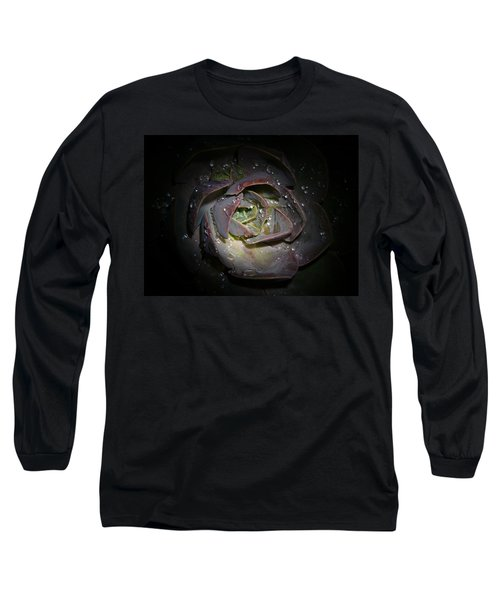 Long Sleeve T-Shirt featuring the photograph Nocturnal Diamonds by Evelyn Tambour