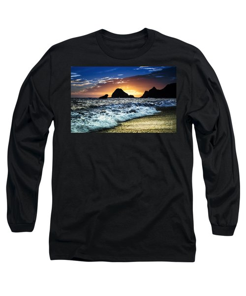 Norcal Sunset On Jenner Beach Long Sleeve T-Shirt